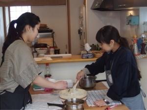 お料理教室の風景