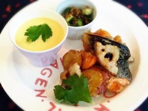 鮭と根菜の南蛮あんかけ